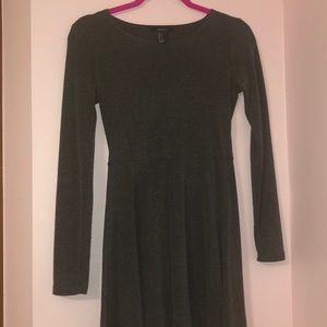 Forever 21 grey casual skater dress